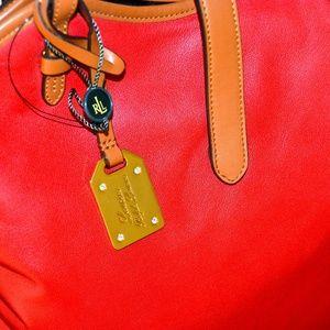 NEW Red Ralph Lauren Hobo Bag
